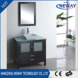 Cabinet de toilette à meuble en vasque en bois massif classique en bois massif