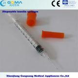 Wegwerfbares 1cc Insulin Syringes 0.5cc Insulin Syringes 0.3cc Insulin Syringes