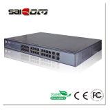 Poe-Schalter Verbinder 1U 100/1000 SC/RJ45 der Saicom (SCSWG2-1124PF) Aluminiumlegierung großen Geschwindigkeit 19 ''