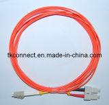 La alta calidad SC/LC dúplex mm cable de conexión de fibra óptica