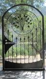 Poort en Omheining van het Smeedijzer van de boog de de Hoogste met het Mooie Ontwerp van de Bloem