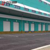 Logistique entreposant la porte intérieure coulissante industrielle sectionnelle de garage rapide