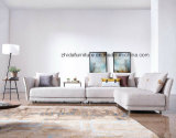 新しいファブリック居間の部門別の角のソファーの家具