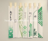 Al por mayor de bambú desechables palillos de China con insignia de los clientes