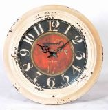 Reloj de pared americano del metal del estilo de Coutry