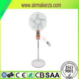 """ventilateur rechargeable de stand de 16 """" AC/DC avec le chargeur mobile"""