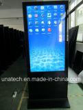 65/74дюйма напольная стойка Киоск для использования внутри помещений ЖК-дисплей рекламы