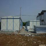 Casa móvel provisória para os trabalhadores que abrigam no canteiro de obras