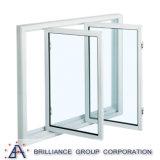 Aluminiumseite hing Fenster-Aluminiumflügelfenster-Fenster