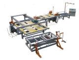 木工業の自動合板の生産ライン