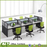 6 Seaters Oficina Muebles de oficina Módulo de estaciones de trabajo de escritorio con pantalla
