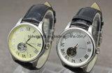 Reeks van het Horloge van het Paar van het Roestvrij staal van het horloge de Achter Zwarte