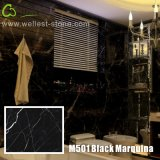 Черный настил мрамора плитки пола мрамора плитки Marquina