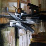 Peinture à l'huile abstraite pour la décoration intérieure