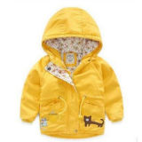 Little Girls를 위한 Style 서쪽 Cat Applique Down Jacket
