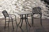 Tabela e cadeiras aluminizadas molde da praia do pátio/parque/mar