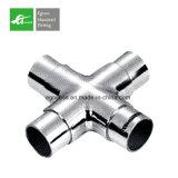 Egoee aço inoxidável de 90 graus 3 preços do cotovelo da câmara de ar da maneira, encaixes de cotovelo da tubulação do corrimão