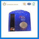 UV 인쇄를 가진 장식용 금 서류상 카드 상자 (PVC Windows에)