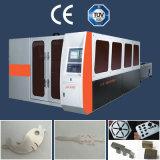 Machine de découpage commutée entièrement incluse de laser de fibre pour le métal