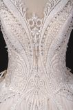 Mais novo personalizar a perolização do vestido de casamento do baile de finalistas do vestido nupcial