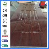 De madera maciza de interior de la naturaleza de la piel de la puerta de melamina