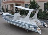 Barco inflável 580 da casca rígida luxuosa do barco do reforço do motor do iate