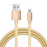 3FT 금속 헤드 이동 전화를 위한 나일론 땋는 USB 비용을 부과 케이블
