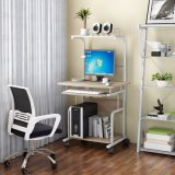 Einfache Art-mini Double-Deck Computer-Schreibtisch mit LED-Licht