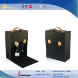 Insiemi di cuoio del vino che impaccano il contenitore di regalo della scatola di presentazione del vino (5503)