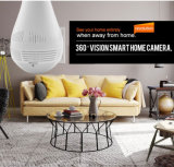 LEDの球根の無線WiFi IPのカメラ360度のFisheyeのカメラ