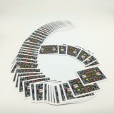 Custom 8 bits Pixelated casa jogando cartas com adesivo de ouro Yh321