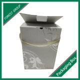 Rectángulo de papel acanalado impresión caliente del vino de la hoja con la maneta de la cinta