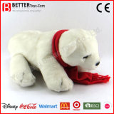 Brinquedos macios do animal enchido de urso polar do luxuoso para miúdos do bebê