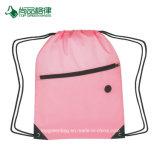 前部ジッパーが付いている高品質衝突ポリエステルスポーツのパックのドローストリング袋をカスタマイズしなさい