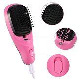 Masaje de la enderezadora del pelo que labra el peine eléctrico mágico del cepillo