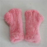 Новые моды трикотажные норки мех Mitten теплой руки рукавицы зимние меховые рукавицы
