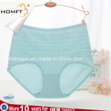 Las señoras maduras de la alta cintura barata al por mayor de China de moda ventilan las bragas del algodón del cordón