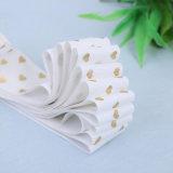 Естественный белый цвет из тончайшего хлопка печатной платы кромки ленты с логотипом