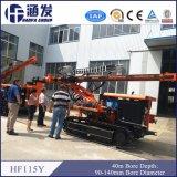 Technologie hydraulique neuve hydraulique du diamètre d'alésage de plate-forme de forage de chenille de Hf115y 90-140mm