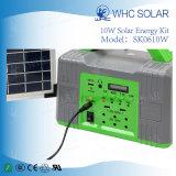 Sistema di illuminazione domestico solare prodotto CC 10W con il carico del telefono
