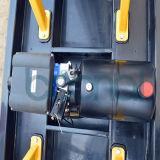 Plataforma de levantamento hidráulica dobro da liga de alumínio do mastro