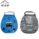 Portable ao ar livre do galão 20L que acampa caminhando o saco Heated solar do chuveiro