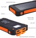 이중 USB는 휴대용 이동할 수 있는 지능적인 전화 힘 은행 LED 토치 빛을%s 가진 이동 전화를 위한 태양 충전기 10000mAh 보편적인 방수 태양 에너지 은행을 향한다