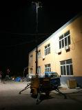 Torretta chiara completamente idraulica per la strada di notte, costruzione, illuminazione estraente