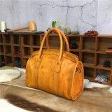Große Kapazitäts-Leder-Arbeitsweg-Handtaschen-Gemüse gebräunter Weinlese-Beutel