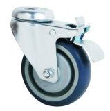 Hohle Hauptperson PU-medizinische Fußrollen-Räder mit voller Bremse für Krankenhaus-Betten