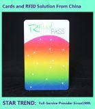 수영 ID 카드는 자석 줄무늬와 Barcode를 가진 플라스틱을 만들었다