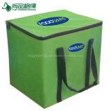 Bolso aislado verde fuerte Zippered aduana promocional del almuerzo del alimento de las manetas