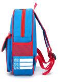 Sac d'épaule de double de dessin animé de paquet d'élève d'impression de cartable de jardin d'enfants de trois couleurs