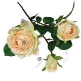 Flor artificial de seda de Rosa do toque real em várias cores para a decoração Home do casamento
